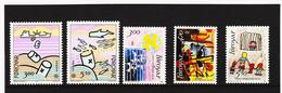 POL1850 DÄNEMARK - FÄRÖER 1986  Michl 134/38 Postfrisch SIEHE ABBILDUNG - Färöer Inseln