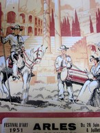 1951-ARLES EN PROVENCE-PROGRAMME GALAS ARTISTIQUES-CHORÉGRAPHIQUES-FOLKLORIQUE-TAURIN-TORO-CORRIDA-LA FLOTTE-PUBLICITÉ - Programmes
