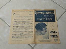 Chanson De Solvejg (Peer Gynt)-(Paroles )-(Musique Edvard Grieg) Partition - Liederbücher