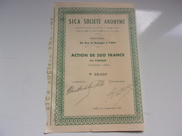 SICA  (1952) - Actions & Titres