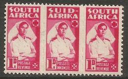 South Africa - 1943 Nurse 1d Bilingual Strip MH *   SG 98  Sc 91 - South Africa (...-1961)