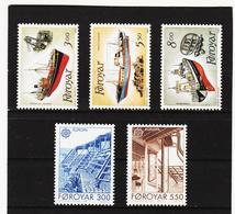 POL1853 DÄNEMARK - FÄRÖER 1987  Michl 149/53 Postfrisch SIEHE ABBILDUNG - Färöer Inseln