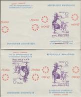 Rwanda 1967 COB Bl. 7. 2 Essais De Blocs En Paires. Exposition Universelle De Montréal, Danseur Indien, Arc, Flèches - 1967 – Montreal (Canada)