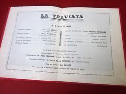 1965-SAINT-ETIENNE -PROGRAMME- LA TRAVIATA THÉÂTRE STÉPHANOIS ÉDEN SAISON LYRIQUE -PHOTOS ARTISTES-DANSE-COMED-PUBLICITÉ - Programmes