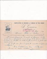 Algérie Période Coloniale-S.Gourion..Manufacture De Brosserie & Plumeaux..Oran 1919 - Factures & Documents Commerciaux