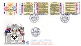 """"""" BICENTENAIRE DE LA DECLARAT° DROITS DE L'HOMME """" Sur Enveloppe 1er Jour Très Grand Format En Relief. N° YT B2605A. FDC - French Revolution"""