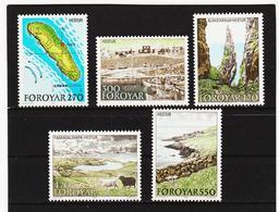 POL1854 DÄNEMARK - FÄRÖER 1987  Michl 154/58 ** Postfrisch SIEHE ABBILDUNG - Färöer Inseln