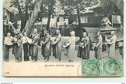 Burmese Priests Begging - Myanmar (Burma)