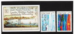 POL1855 DÄNEMARK - FÄRÖER 1987  Michl 160/61 + Block 3 ** Postfrisch SIEHE ABBILDUNG - Färöer Inseln