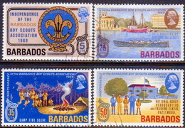 BARBADOS 1969 SG #393-96 Compl.set Used Scouts - Barbades (1966-...)