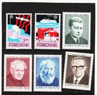 POL1857 DÄNEMARK - FÄRÖER 1988  Michl 166/71 ** Postfrisch SIEHE ABBILDUNG - Färöer Inseln