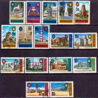BARBADOS 1970 SG #399-414 Compl.set (16 Stamps) Used Chalk-surfaced Paper CV £24 - Barbados (1966-...)