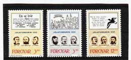 POL1858 DÄNEMARK - FÄRÖER 1988  Michl 172/74 ** Postfrisch SIEHE ABBILDUNG - Färöer Inseln