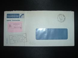LR PTT TELECOMMUNICATIONS OBL.6-2 1985 70 VESOUL RP HAUTE-SAONE - Storia Postale