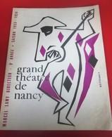 1953-54-PROGRAMME-THÉÂTRE DE NANCY- CARMEN-LA FLAMENCA--PHOTOS ARTISTES-DANSE- COMÉDIE - PUBLICITÉ BIÈRE - Programmes