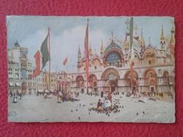 POSTAL POST CARD CARTE POSTALE ITALIA ITALY VENETO VENECIA VENEZIA VENICE CHIESA DI S. MARCO E TORRE SAINT MARC TOUR.... - Venezia (Venice)