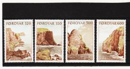 POL1863 DÄNEMARK - FÄRÖER 1990  Michl 190/93 ** Postfrisch SIEHE ABBILDUNG - Färöer Inseln