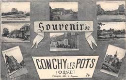 60-CONCHY-LES-POTS- SOUVENIR MULTIVUES - France