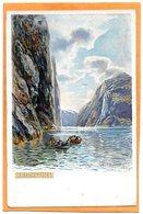 Geirangerfjord Norway 1905 Postcard - Norway
