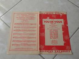 Fou De Vous -(Paroles Max François)-(Musique Michel Emer) Partition - Liederbücher