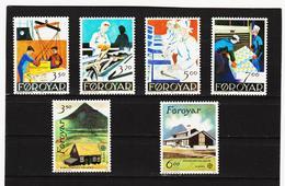 POL1866 DÄNEMARK - FÄRÖER 1990  Michl 194/99 ** Postfrisch SIEHE ABBILDUNG - Färöer Inseln