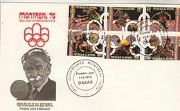 Sénégal Enveloppe FDC Format 14,5 X 22 Cm Bloc Feuillet Jeux Olympiques Montréal 1976 Sport - Ete 1976: Montréal