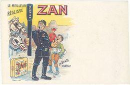 Cpa Publicitaire - Réglisse Zan, Signée Ogé, Paul Aubrespy à Uzès - Werbepostkarten