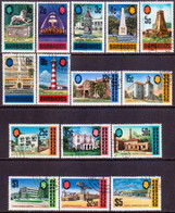 BARBADOS 1971 SG #399a-414a Compl.set (15 Stamps) Used Glazed, Ordinary Paper CV £48 - Barbados (1966-...)