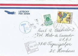 Czech 1999 Hradeckralove Angel Underfranked Taxed Cover To Honduras - Brieven En Documenten