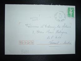 LETTRE TP M. DE BRIAT 2,70 OBL. VARIETE 3-7 1997 70 VESOUL CENTRALISATEUR HTE SAONE - Storia Postale