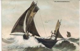 """BLANKENBERGHE-BLANKENBERGE""""BARQUE DE PECHE AU LARGE-VISSERSBOOT HEEN EN WEER""""AQUA PHOTO N°3573 - Blankenberge"""