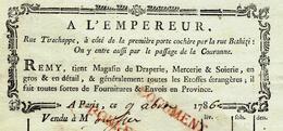 """SUPERBE FACTURE 1786 PARIS MODE """"A L'EMPEREUR"""" REMY Rue Tirechappe  Magasin De Draperie Mercerie Soirie Avec Signature - France"""