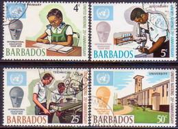 BARBADOS 1970 SG #415-418 Compl.set Used 25th Anniv Of UN - Barbades (1966-...)