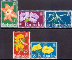 BARBADOS 1970 SG #419-23 Compl.set Used Flowers Of Barbados - Barbados (1966-...)