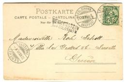 LANGSTEMPEL WEISSENSTEIN  Bei SOLOTHURN Auf AK 1899 Kurthaus Weissenstein Gruss Aus Typ - Marcophilie
