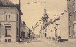 Postkaart/Carte Postale LANDEN Rue De L'Eglise  (C450) - Hoegaarden