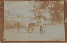 Photo Postcard CONGO Belge - Ricksha - Autres