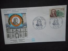 "ENVELOPPE PREMIER JOUR ""François MANSART"" 1966 - 1960-1969"