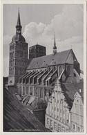 Ansichtskarte Stralsund Nicolaikirche Und Häuser 1938  - Stralsund