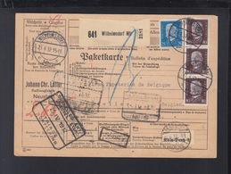 Dt. Reich Paketkarte 1932 Wilhelmsdorf Nach Belgien - Germany