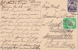 ALLEMAGNE 1938 CARTE POSTALE DE WIEN  DOUBLE AFFRANCHISSEMENT - Storia Postale