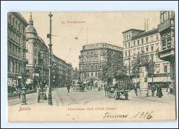 U6869/ Berlin Friedrichshain Straußberger Platz, Litfaßsäule AK 1906 - Germany