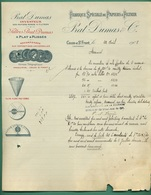 24 Couze Saint Front Prat Dumas Inventeur Fabrique De Papiers à Filtrer ( Logo Médailles Et Filtre ) 22 04 1908 - Printing & Stationeries