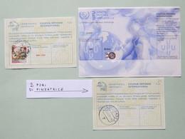 Coupons Risposta Internazionale Brasile (mod.Nairobi), Germania (mod.Losanna Con Buchi Pinzatrice), Italia (mod.Losanna) - U.P.U.