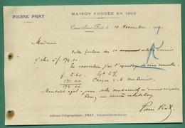 24 Couze Saint Front Prat Pierre Maison Fondée En 1902 10 Novembre 1903 - Printing & Stationeries