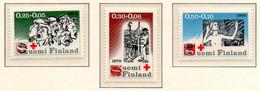 """PIA - FINLANDIA  - 1970 : Pro Croce Rossa- """"I Sette Fratelli"""" Romanzo Di Alexis Kivi - (Yv 638-40) - Primo Soccorso"""