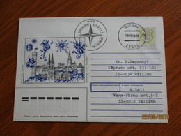 ESTONIA  1992 NATO BOAT SQUADRON VISIT TO TALLINN SPECIAL CANCEL , 1989 USSR RUSSIA POSTAL STATIONERY USED  , O - Estonia