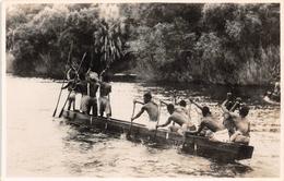 A Native Canoe On The Zambezi River Above The Victoria Falls  ZAMBIA - Zambia