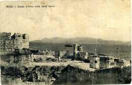 Cart RODI Costa D'Arva Vista Dalle Mura Viaggiata / Annulli TOBRUK/CIRENAICA & REGG. FANTERIA - Grecia