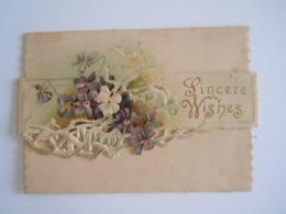 Mignonnette Ajourée Voeux Pensée Fleurs Relief Mignonette 10,3 X 7,5 Cm Raphael Tuck & Sons - Autres